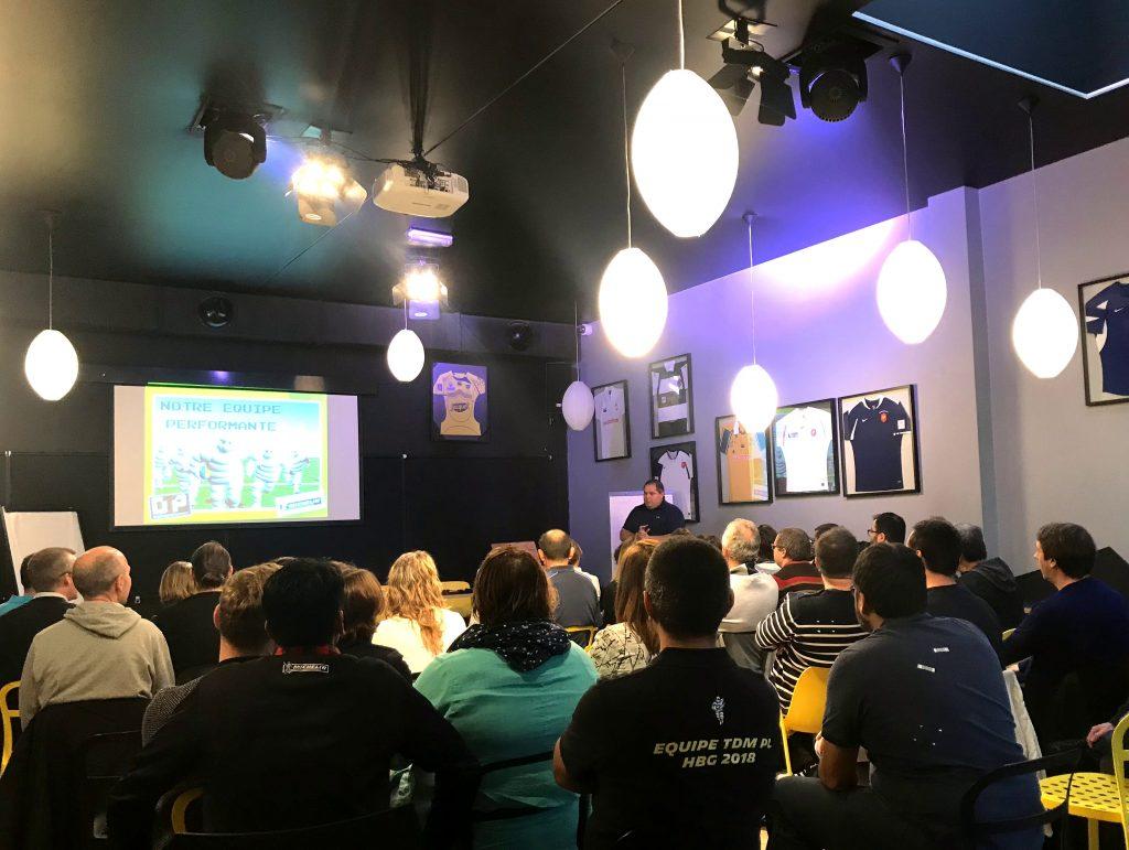 Team Building et présentation des fondamentaux d'une équipe performante animé par l'agence événementielle 1PACTevent pour les équipes de Michelin à Clermont
