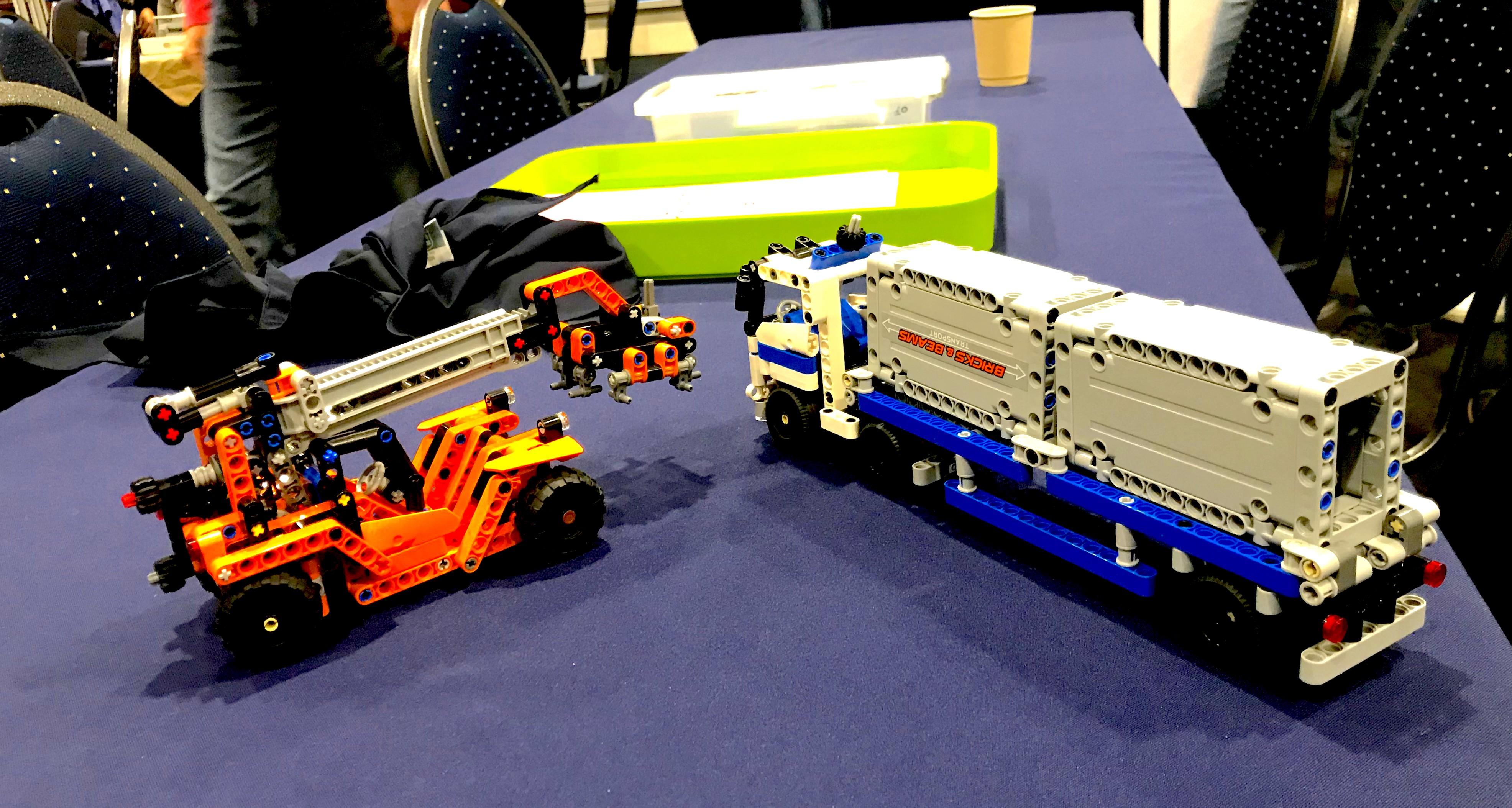 Construction du LEGO Technic